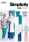 5443 Simplicity Pattern: Women's, Men's and Plus Size Scrubs